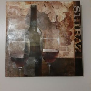 Red Wine Theme Canvas Painting for Sale in Boston, MA