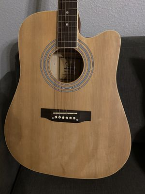 Full Size Country Acoustic Guitar with Cover, Pick $100 Firm for Sale in Arlington, TX
