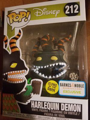 Funko pop Harlequin demon glow barnes exclusive nightmare before christmas disney for Sale in Ontario, CA