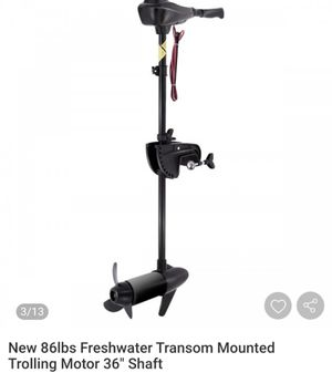 """NEW 86lbs freshwater transom mounted trolling motor 36"""" shaft for Sale in Ontario, CA"""