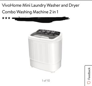 Vivo home mini laundry washer and dryer combo washing machine for Sale in Eastvale, CA