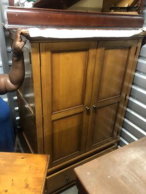 Pottery Barn Chestnut Armoire + 2 matching book shelves for Sale in Union City, CA