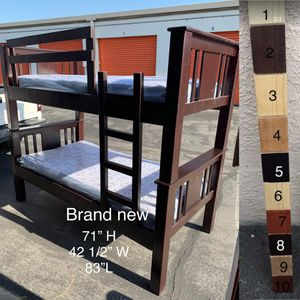 $399 brand new twin/twin bunk beds with mattress for Sale in Los Angeles, CA