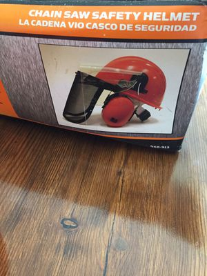 New. Chainsaw Safety Helmet w/Ear Muffs for Sale in New Braunfels, TX