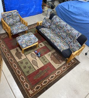 Log futon, chair and ottoman for Sale in Payson, AZ