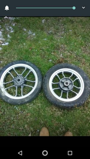 Motorcycle wheels cheap and in great condition for Sale in Beckley, WV