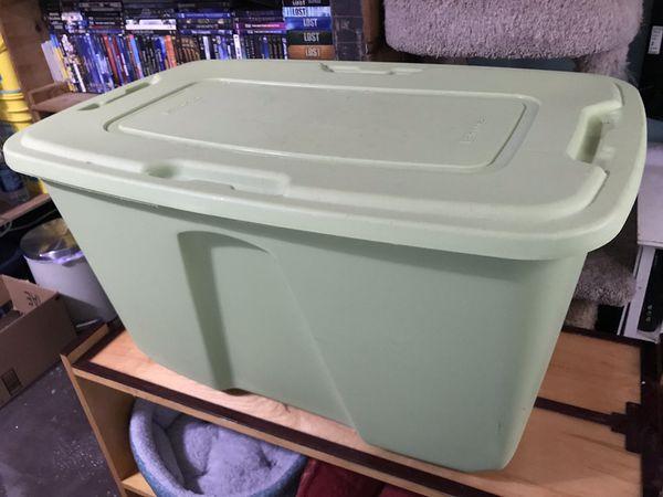 HOMZ Light Green Sturdy Storage Bin