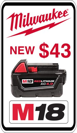 BRAND NEW - Milwaukee M18 4.0 Battery - We accept trades & Credit Cards - AzBE Deals for Sale in Sun City, AZ