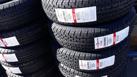 st225 75 r15 trailers tires 4new$260 for Sale in Escondido,  CA