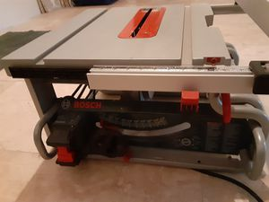 Bosch table saw for Sale in Fort Lauderdale, FL
