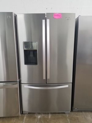 """WHIRLPOOL 36"""" REFRIGERATOR Works great and warranty for 3 month Funcionando bien y garantía de 3 meses Delivery and installation available (plus) for Sale in Hialeah, FL"""