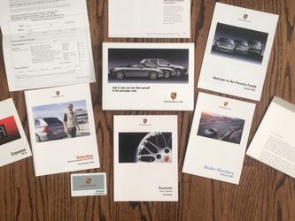 *RARE 2003-2010 OEM PORSCHE WELCOME KIT W/SUPPLEMENTAL CAYENNE MANUAL for Sale in Chicago,  IL