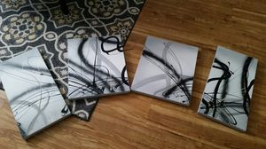 Abstract Oil Canvas Art (4 piece) for Sale in TATAMY Borough, PA