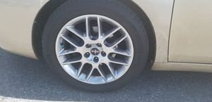 """Nice and clean like brand new 4 set of 18"""" alloy rims with 100% 4 brand new tires for Sale in Hyattsville, MD"""