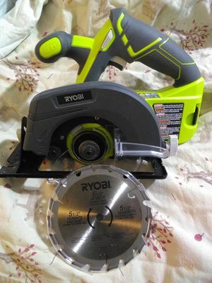 Ryobi saw cordless rechargeable 5 1/2 in. blade is included. New,never used for Sale in Terry, MS