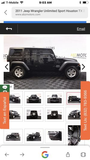 2011 Jeep Wrangler sport for Sale in Houston, TX