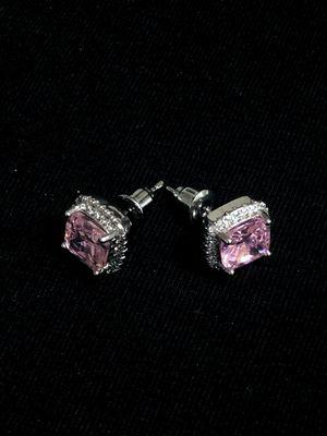 Sterling Silver Pink Earrings for Sale in Las Vegas, NV