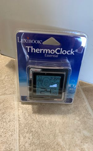 LEXiBOOK Essential ThermoClock, High Precision Digital termometer, Alarm Clock with Snooze Function, Large Reverse LCD Screen, Calendar, Batterie, Bl for Sale in Crest Hill, IL