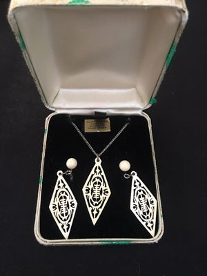 Antique earrings with necklace for Sale in La Habra, CA