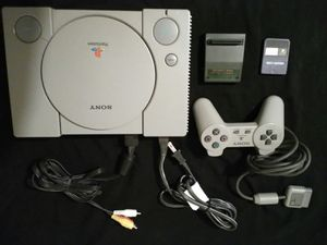 PlayStation One Bundle wt Rare Cheat Cartridge for Sale in Algonquin, IL