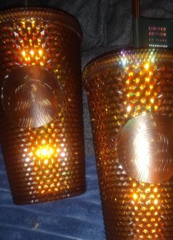 Starbucks ' Iridescent Gold ' Grande Studded Tumbler ~ 50th Anniversary ~ Limited Edition! for Sale in Seattle,  WA