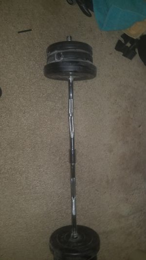 55lb curl bar for Sale in Sully Station, VA