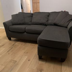 Grey Stanton Loveseat With Reversible Chaise for Sale in Beaverton, OR
