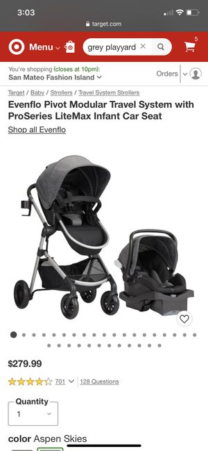 Evenflo travel system - used only 2 times for Sale in Millbrae, CA