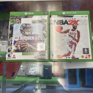 Xbox One And Xbox Series X Games . Madden 21 And NBA 2k21 for Sale in Fort Lauderdale, FL