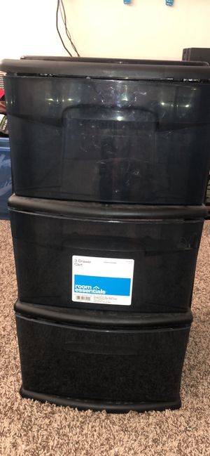 3 drawer plastic cart for Sale in Hillsborough, CA