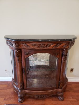 Brand new mahogany cabinet with glass shelf for Sale in Beverly Hills, CA