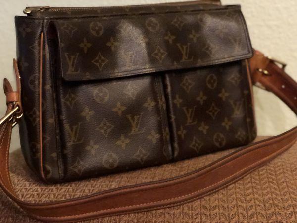f962ec61bcd9 ... Authentic Louis Vuitton Viva Cite GM Purse and Tresor Long Wallet ...