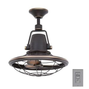 New HDC Bentley II 18 in. Indoor/Outdoor Tarnished Bronze Oscillating Ceiling Fan with Wall Control for Sale in Houston, TX