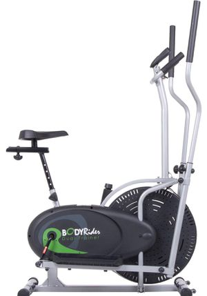 Body Rider Elliptical Trainer and Exercise Bike with Seat and Easy Computer / Dual Trainer 2 in 1 Cardio Home Office Fitness Workout Machine BRD2000 for Sale in Los Angeles, CA
