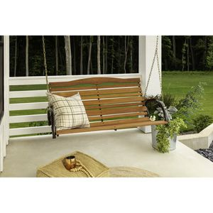 Wood Porch Swing with Chain for Sale in Garden Grove, CA