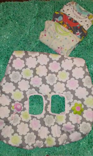 Carter's cart cover(pink,lime,gray), pjs sz. 18M, pink Snuggie, all for $10.00 for Sale in Grand Prairie, TX