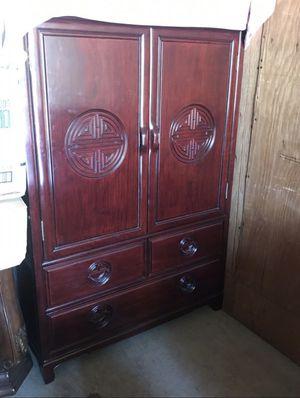 Rosewood armoire / wardrobe closet for Sale in San Jose, CA