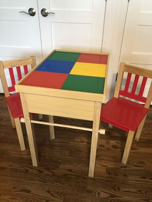 Wooden Multi function kids table with chairs for Sale in Arlington Heights, IL