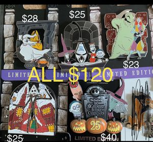 Disney nightmare before Christmas trading pins for Sale in Montebello, CA