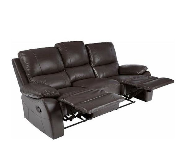 Brand New Brown Leather Reclining Sofa & Loveseat
