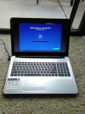 """HP Pavilion W2M87UA Notebook PC Factory Reset Works Perfect Guaranteed w/ powercord 15.6"""" Screen Size Touch Screen for Sale in Sacramento, CA"""