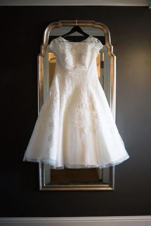 Oleg Cassini tea length wedding dress for Sale in Tumwater, WA