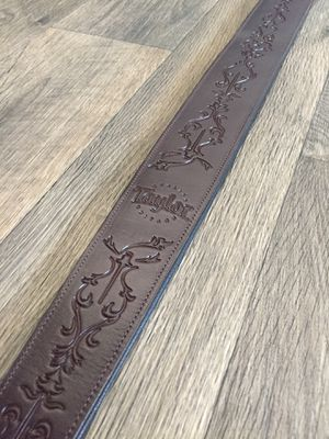 Like New - Beautiful Taylor™ Byzantine Real Genuine Brown Leather Guitar Strap. for Sale in Fullerton, CA