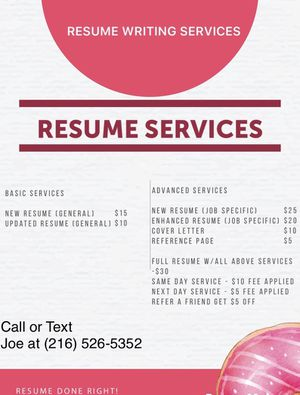 Resume for Sale in Columbus, OH