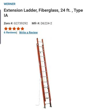 Werner Electro master Fiberglass ladder 24 ft for Sale in Miami, FL
