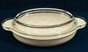 Corning Ware GRAB IT 14oz White Oval Casserole Dish Clear Pyrex Cover for Sale in Mesa, AZ