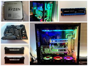 Water Cooled Gaming Pc & Workstation, Ryzen 7 3800x, RTX 2070 Super, Custom Water Cooled for Sale in Wantagh, NY