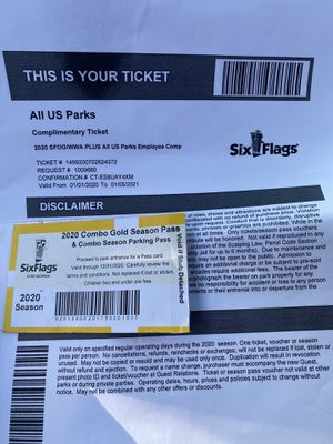 Six flags pass & tickets for Sale in Marietta, GA