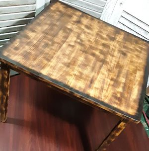 Beautiful Custom Charred End Table for Sale in Shelbyville, TN