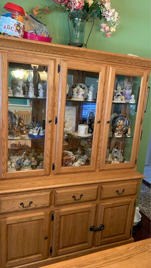 Solid wood china cabinet for Sale in Tampa, FL